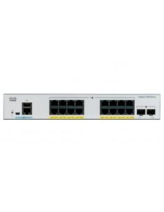 Cisco Catalyst C1000-16T-E-2G-L verkkokytkin Hallittu L2 Gigabit Ethernet (10/100/1000) Harmaa Cisco C1000-16T-E-2G-L - 1