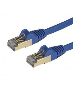 StarTech.com Cat6a Ethernet-kabel - skärmad (STP) 2 m, blå Startech 6ASPAT2MBL - 1
