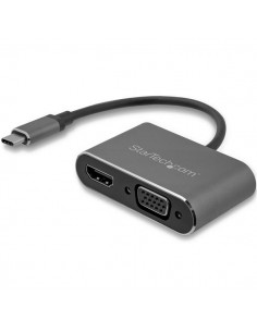 StarTech.com USB-C to VGA and HDMI Adapter - 2-in-1 4K 30Hz Space Gray Startech CDP2HDVGA - 1