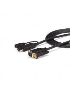 StarTech.com HD2VGAMM6 videokaapeli-adapteri 1.9 m VGA (D-Sub) HDMI + Micro USB Musta Startech HD2VGAMM6 - 1