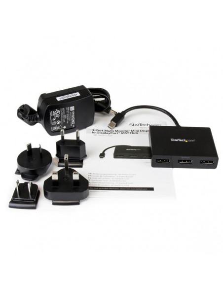 StarTech.com Mini DisplayPort to Multi-Monitor Splitter - 3-Port MST Hub Startech MSTMDP123DP - 10