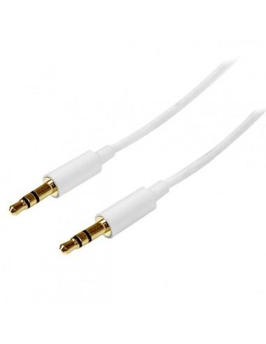 StarTech.com 1m White Slim 3.5mm Stereo - Male to Startech MU1MMMSWH - 1
