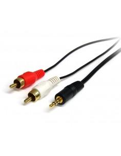 StarTech.com 0.92m, 3.5mm/2xRCA, M/M ljudkabel 0.92 m 3,5mm Svart Startech MU3MMRCA - 1