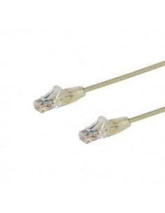 StarTech.com 2.5 m CAT6-kabel - Tunn Ej hakfria RJ45-kontakter Grå Startech N6PAT250CMGRS - 1