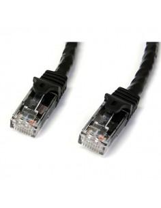 StarTech.com 75ft CAT6 Ethernet Cable - Black CAT 6 Gigabit Wire -650MHz 100W PoE RJ45 UTP Network/Patch Cord Snagless w/Strain