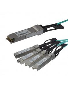 StarTech.com QSFP4X10AO15 valokuitukaapeli 15 m QSFP+ 4x SFP+ Musta Startech QSFP4X10AO15 - 1