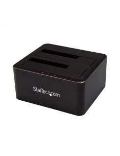 StarTech.com SDOCK2U33V tallennusaseman telakointiasema USB 3.2 Gen 1 (3.1 1) Type-B Musta Startech SDOCK2U33V - 1