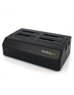 StarTech.com SDOCK4U33 tallennusaseman telakointiasema USB 3.2 Gen 1 (3.1 1) Type-B Musta Startech SDOCK4U33 - 1