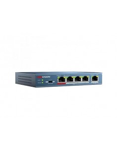 Hikvision Digital Technology DS-3E0105P-E network switch Unmanaged Fast Ethernet (10/100) Power over (PoE) Blue Hikvision DS-3E0