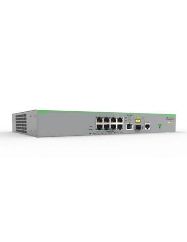 Allied Telesis AT-FS980M/9PS-50 hanterad Fast Ethernet (10/100) Strömförsörjning via (PoE) stöd Grå Allied Telesis AT-FS980M/9PS