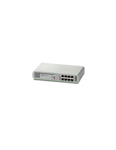 Allied Telesis AT-GS910/8E-50 Hallitsematon Gigabit Ethernet (10/100/1000) Harmaa Allied Telesis AT-GS910/8E-50 - 1