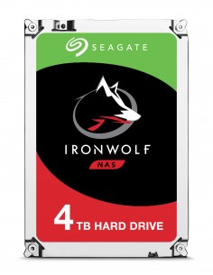 """Seagate IronWolf ST4000VN008 sisäinen kiintolevy 3.5"""" 4000 GB Serial ATA III Seagate ST4000VN008 - 1"""