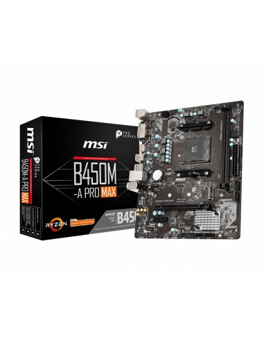MSI B450M PRO-VDH Max AMD B450 Uttag AM4 micro ATX Msi B450M PRO-VDH MAX - 1