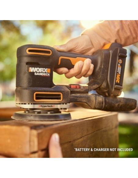 WORX WX820L.9 bärbar slipmaskin Skivslipmaskin 10000 RPM Svart, Gul Worx WX820.9 - 5