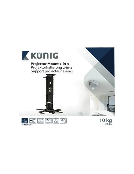 König KNM-PM20 projektorfästen Innertak/vägg Svart König KNM-PM20 - 6