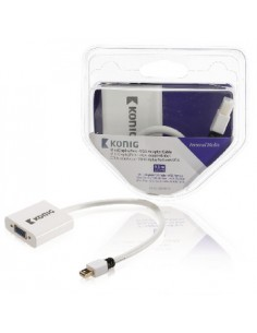 König KNM37850W02 cable gender changer Mini DisplayPort VGA White König KNM37850W02 - 1