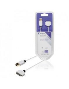 König KNM39100W20 mobiltelefonkablar Vit 2 m USB A Apple 30-pin König KNM39100W20 - 1