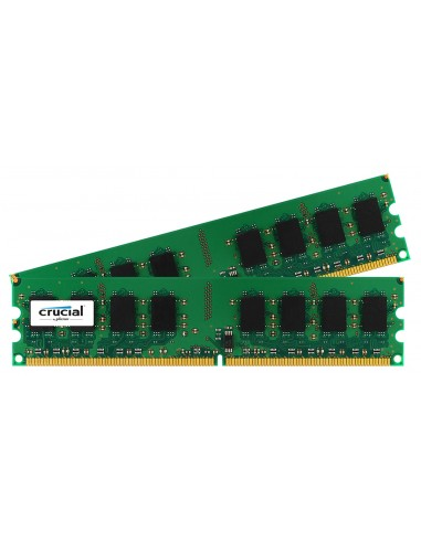Crucial 4GB DDR2 muistimoduuli 2 x GB 800 MHz Crucial Technology CT2KIT25664AA800 - 1