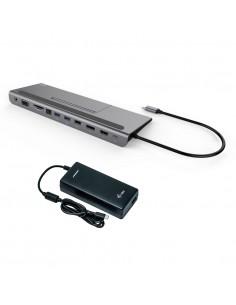 i-tec Metal C31FLATPLUS112W kannettavien tietokoneiden telakka ja porttitoistin Langallinen USB 3.2 Gen 1 (3.1 1) Type-C Harmaa