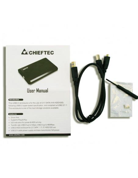 "Chieftec CEB-2511-U3 tallennusaseman kotelo 2.5"" Musta Chieftec CEB-2511-U3 - 6"