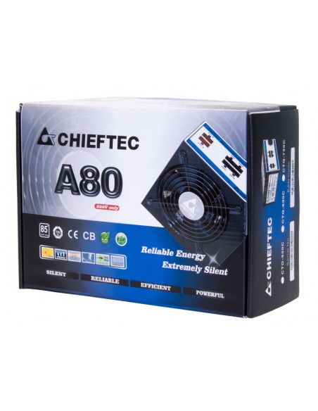 Chieftec CTG-750C virtalähdeyksikkö 750 W 24-pin ATX Musta Chieftec CTG-750C - 2