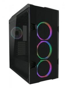 LC-Power 998B MIDI-torni Musta, Läpinäkyvä Lc Power LC998B-ON - 1