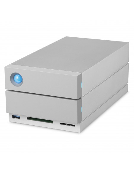 LaCie 2big Dock Thunderbolt 3 levyjärjestelmä 8 TB Työpöytä Harmaa Lacie STGB8000400 - 3