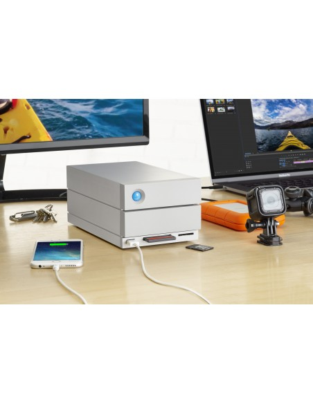 LaCie 2big Dock Thunderbolt 3 levyjärjestelmä 8 TB Työpöytä Harmaa Lacie STGB8000400 - 9
