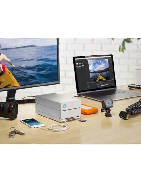 LaCie 2big Dock Thunderbolt 3 levyjärjestelmä 8 TB Työpöytä Harmaa Lacie STGB8000400 - 10