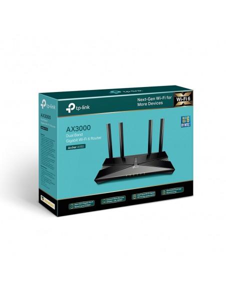 TP-LINK Archer AX50 langaton reititin Kaksitaajuus (2,4 GHz/5 GHz) Gigabitti Ethernet Musta Tp-link ARCHER AX50 - 8