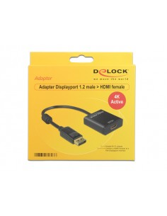 DeLOCK 62607 kaapeli liitäntä / adapteri DisplayPort 1.2 HDMI Musta Delock 62607 - 1
