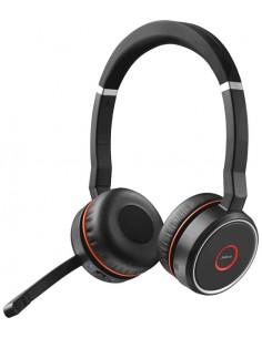 Jabra Evolve 75 MS Stereo Kuulokkeet Pääpanta Musta, Punainen Gn Netcom 7599-832-199 - 1