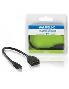 Valueline VLVB34790B02 kaapeli liitäntä / adapteri Micro HDMI Musta Valueline VLVB34790B02 - 1