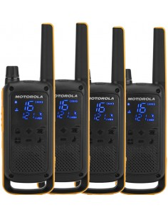 Motorola Talkabout T82 Extreme Quad Pack 16 kanavaa Musta, Oranssi Motorola 188082 - 1