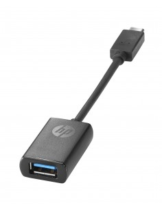 HP USB-C to USB 3.0 Adapter Musta Hp N2Z63AA - 1