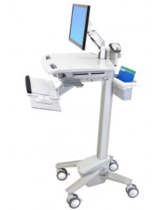 Ergotron StyleView EMR Cart with LCD Arm Vit Plattskärm Multimediavagn Ergotron SV41-6200-0 - 1