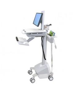 Ergotron StyleView EMR, LiFe Powered, EU Aluminium, Grey, White Multimedia cart Ergotron SV42-6102-2 - 1