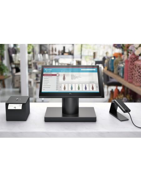 "HP Engage One 143 All-in-One 2.4 GHz i3-7100U 35.6 cm (14"") 1920 x 1080 pikseliä Kosketusnäyttö Musta Hp 6TP98EA#UUW - 16"
