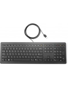 HP Z9N38AA näppäimistö USB QWERTY Musta Hp Z9N38AA#ABB - 1