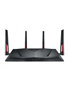ASUS RT-AC88U wireless router Gigabit Ethernet Dual-band (2.4 GHz / 5 GHz) 3G 4G Black, Red Asus 90IG01Z0-BU2000 - 1