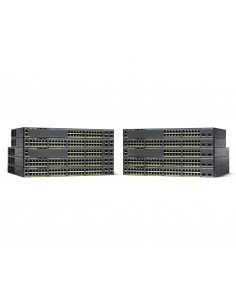 Cisco WS-C2960XR-24PD-I nätverksswitchar hanterad L2 Gigabit Ethernet (10/100/1000) Strömförsörjning via (PoE) stöd Svart Cisco