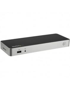 StarTech.com USB-C-dockningsstation för bärbara datorer med dubbla 4K-skärmar - 60W USB-strömförsörjning SD-kortläsare Startech