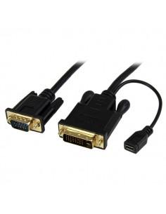 StarTech.com DVI2VGAMM3 videokaapeli-adapteri 0.9 m VGA (D-Sub) DVI-D + USB Musta Startech DVI2VGAMM3 - 1