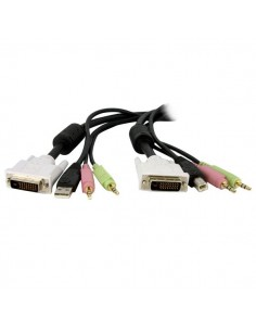 StarTech.com 6ft 4-in-1 USB Dual Link DVI-D KVM Switch Cable w/ Audio & Microphone Startech DVID4N1USB6 - 1