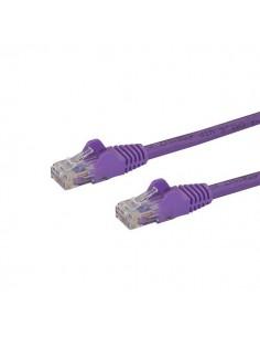 StarTech.com Cat6 Ethernet patchkabel med hakfria RJ45-kontakter - 10 m, lila Startech N6PATC10MPL - 1