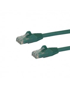 StarTech.com 1m CAT6 Ethernet Cable - Green CAT 6 Gigabit Wire -650MHz 100W PoE RJ45 UTP Network/Patch Cord Snagless w/Strain St