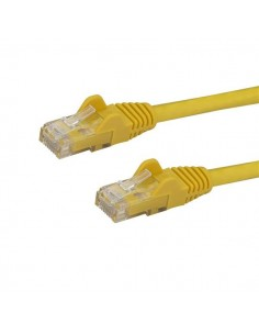 StarTech.com 1m CAT6 Ethernet Cable - Yellow CAT 6 Gigabit Wire -650MHz 100W PoE RJ45 UTP Network/Patch Cord Snagless w/Strain S