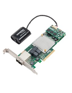 Microsemi 8885Q RAID-kontrollerkort PCI Express x8 3.0 12 Gbit/s Microsemi Storage Solution 2277100-R - 1