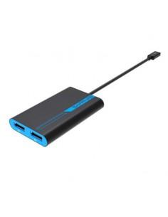 Sapphire 44005-01-20G videokabeladapter 0.265 m Thunderbolt 3 2 x DisplayPort Blå, Grå Sapphire Technology 44005-01-20G - 1