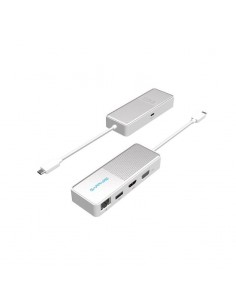 Sapphire 44005-05-20G kannettavien tietokoneiden telakka ja porttitoistin Langallinen USB 3.2 Gen 1 (3.1 1) Type-C Valkoinen Sap